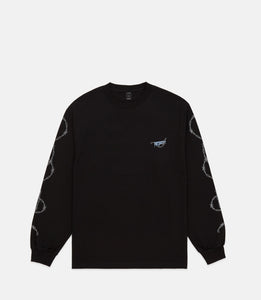 BARBED WIRE L/S TEE - BLACK