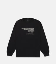 Load image into Gallery viewer, COLLAB L/S TEE - BLACK