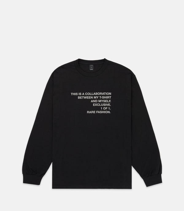 COLLAB L/S TEE - BLACK