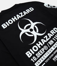 Load image into Gallery viewer, BIOHAZARD L/S TEE - BLACK