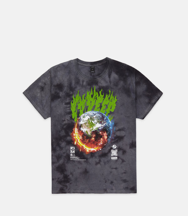 CATACLYSM TEE - BLACK TIE DYE