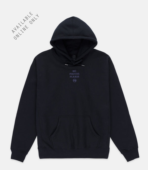 NO PHOTOS HOODIE - BLACK