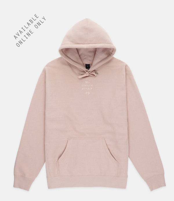 NO PHOTOS HOODIE - BLUSH