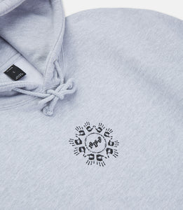MANY HANDS HOODIE - HEATHER GREY