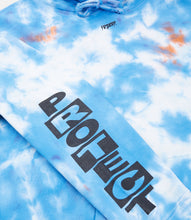 Load image into Gallery viewer, PRAYER HOODIE-BLUE TIE DYE