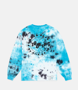 MANY HANDS L/S TEE - BLUE