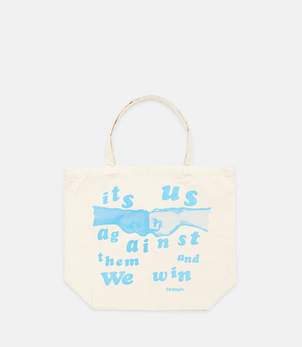 US & THEM TOTE - NATURAL