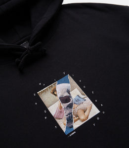 LOVE AND DEATH HOODIE - BLACK