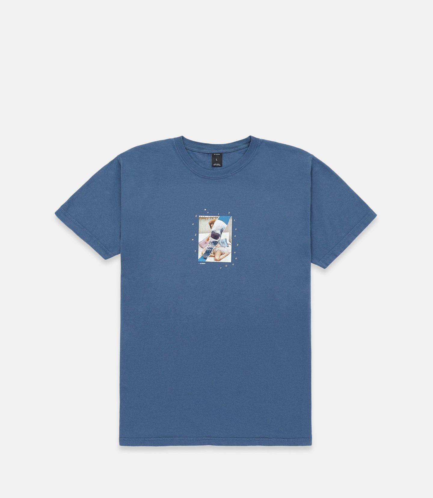 LOVE AND DEATH S/S TEE - BLUE