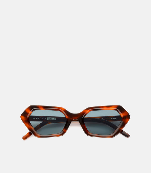 10.DEEP X AKILA 720 GLASSES - TORTOISE/BLUE