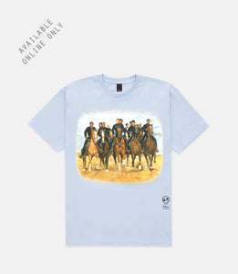 "10.DEEP® X KOLONGI ""FREEDOM RIDERS"" TEE - LIGHT BLUE"