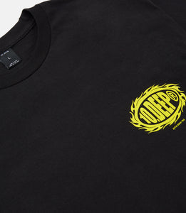 FLAT EARTH TEE - BLACK