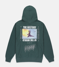 Load image into Gallery viewer, HISTORY OF THE WORLD HOODIE - GREEN