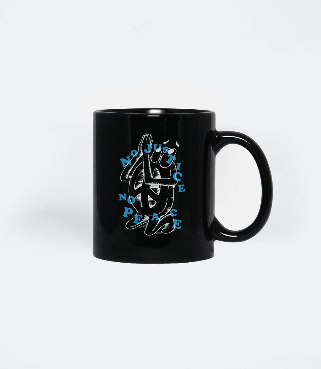 NO JUSTICE, NO PEACE MUG - BLACK