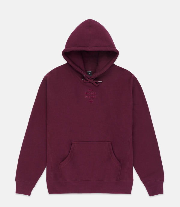 NO PHOTOS HOODIE - BURGUNDY