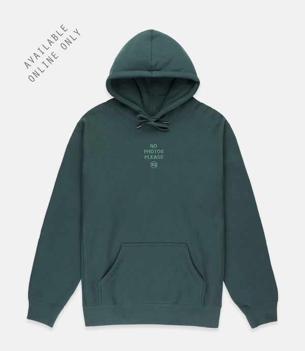 NO PHOTOS HOODIE - GOOD LUCK GREEN