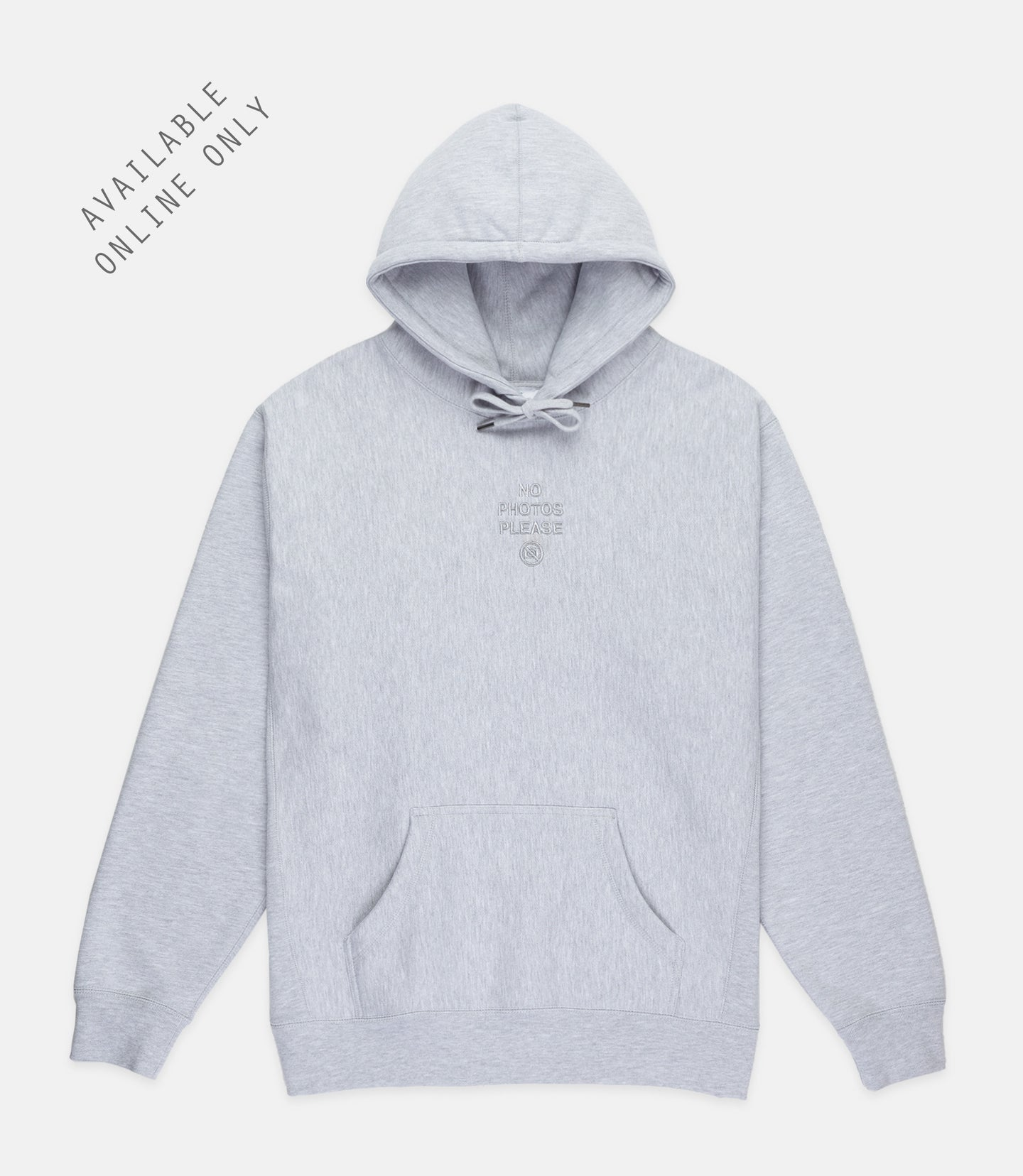NO PHOTOS HOODIE - HEATHER GREY
