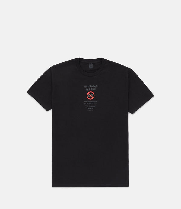 NO PHOTOS S/S - BLACK