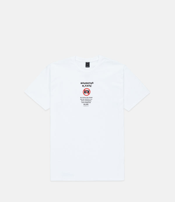 NO PHOTOS S/S - WHITE