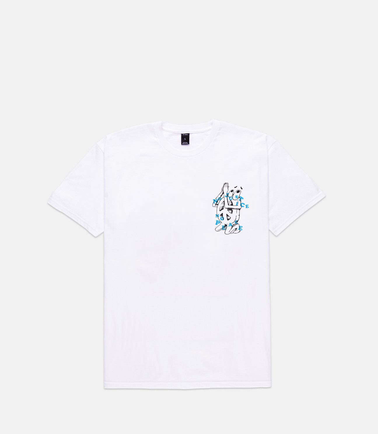 NO JUSTICE, NO PEACE TEE - WHITE