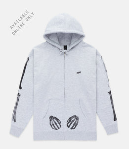 FRAMEWORK ZIP HOODIE - HEATHER GREY