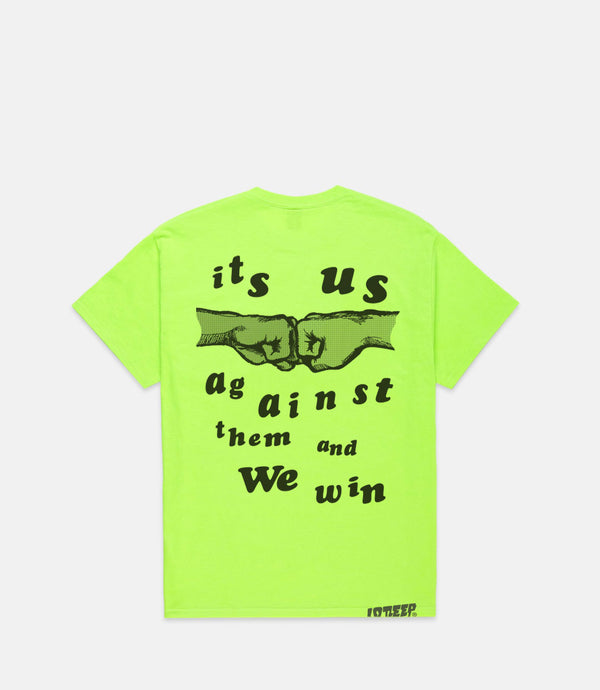 US & THEM S/S - NEON YELLOW