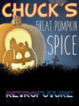 Case of Chuck's Great Pumpkin Spice 2oz bags for brewing coffee at an establishment