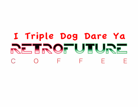 Case of I Triple Dog Dare Ya 2oz bags for brewing coffee at an establishment