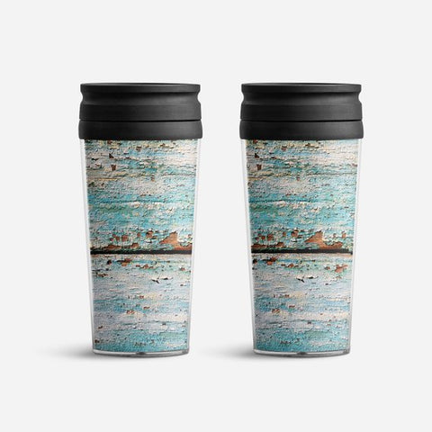 Wooden Print Tumbler Coffee Mug