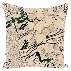 Jardin Throw Pillow - Forest