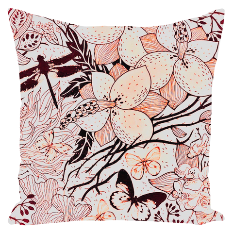 Jardin Throw Pillow - Plum