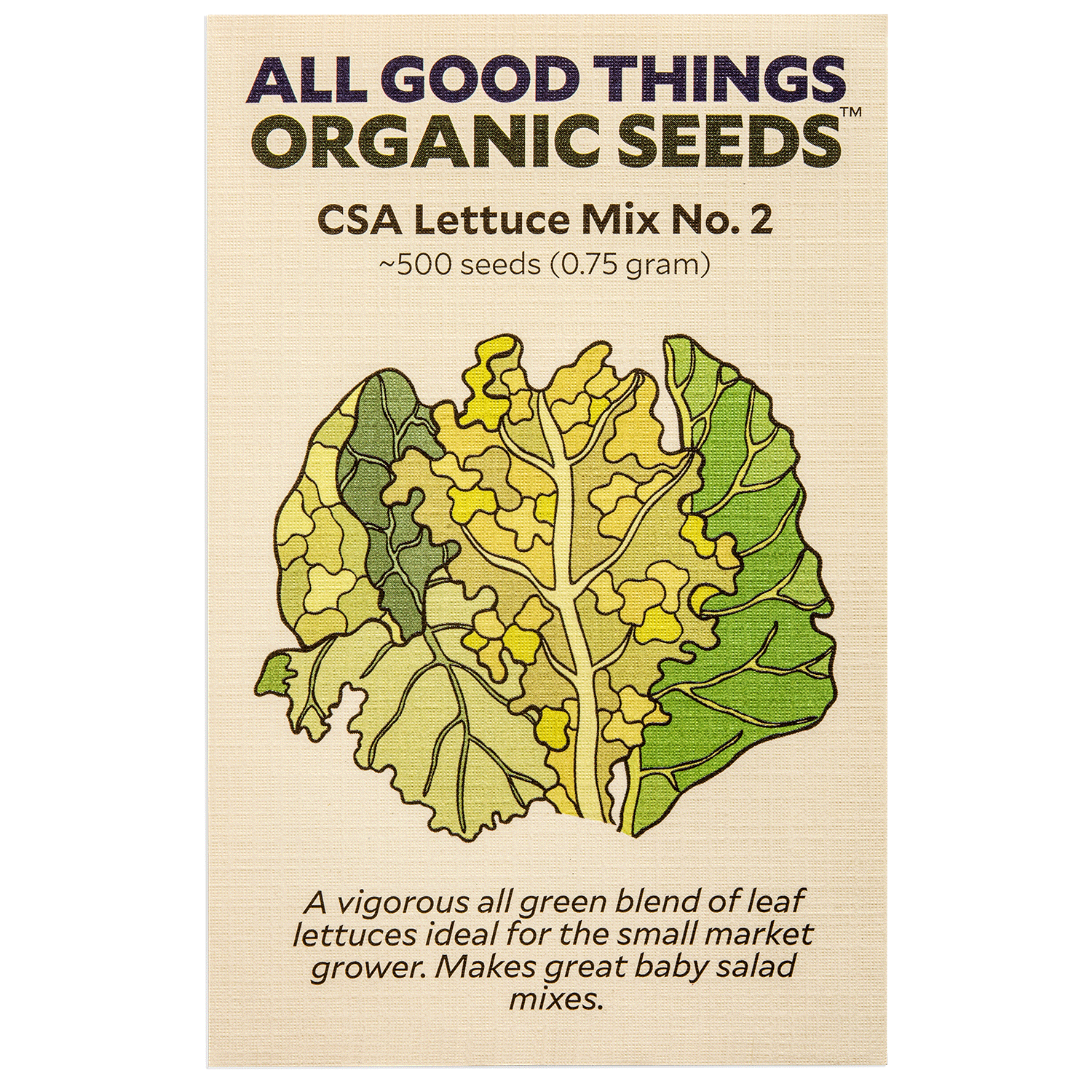 Community Supported Agriculture (CSA) Lettuce Mix No. 2
