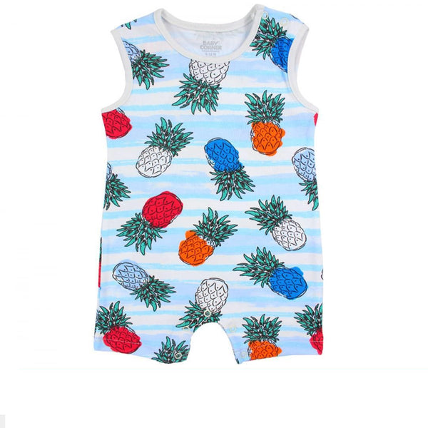 Sleeveless romper suit