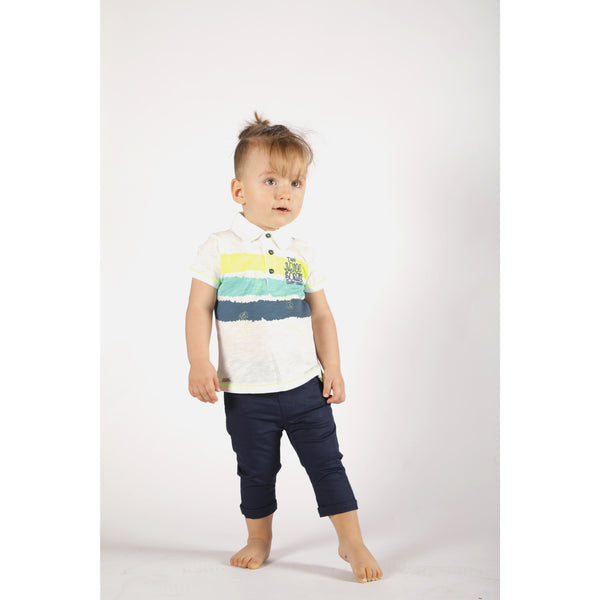 Cotton trousers and T-shirt set