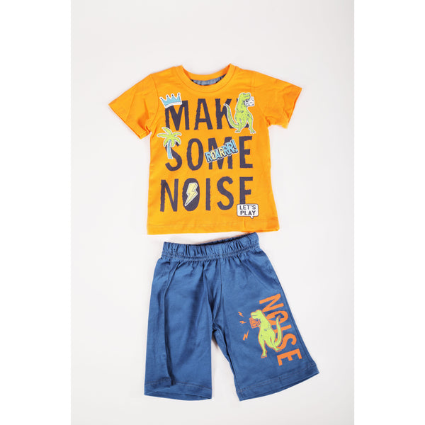 Noisy jersey shorts and T-shirt set