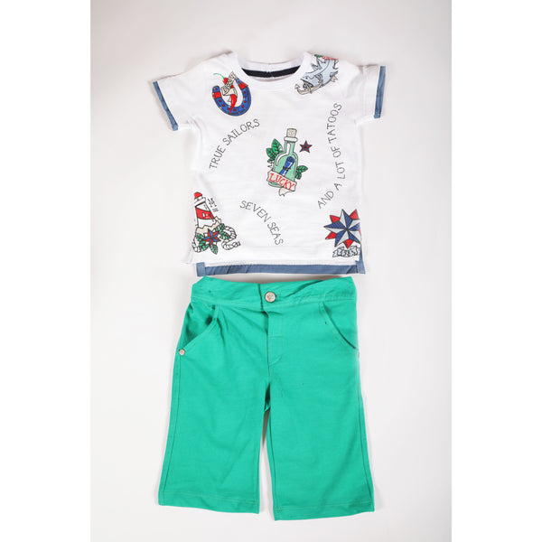 Sailors jersey shorts and T-shirt set