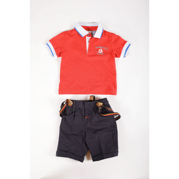 Shorts and polo shirt set