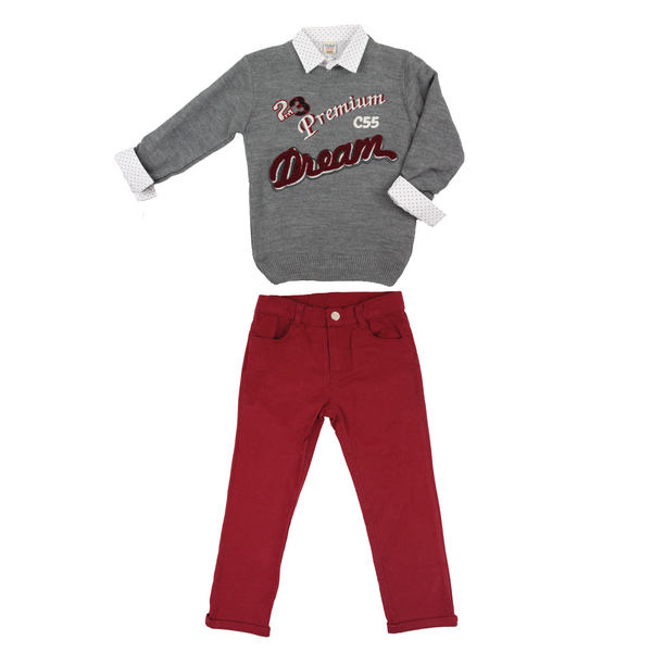 3-piece pants and jumper set