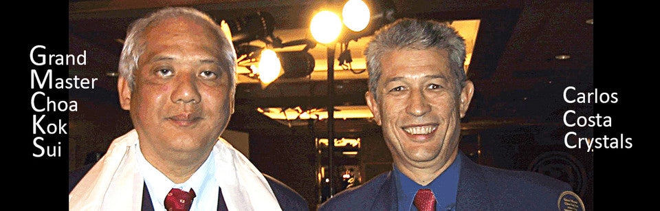 Grand Master Choa Kok Sui and Carlos Costa Crystals