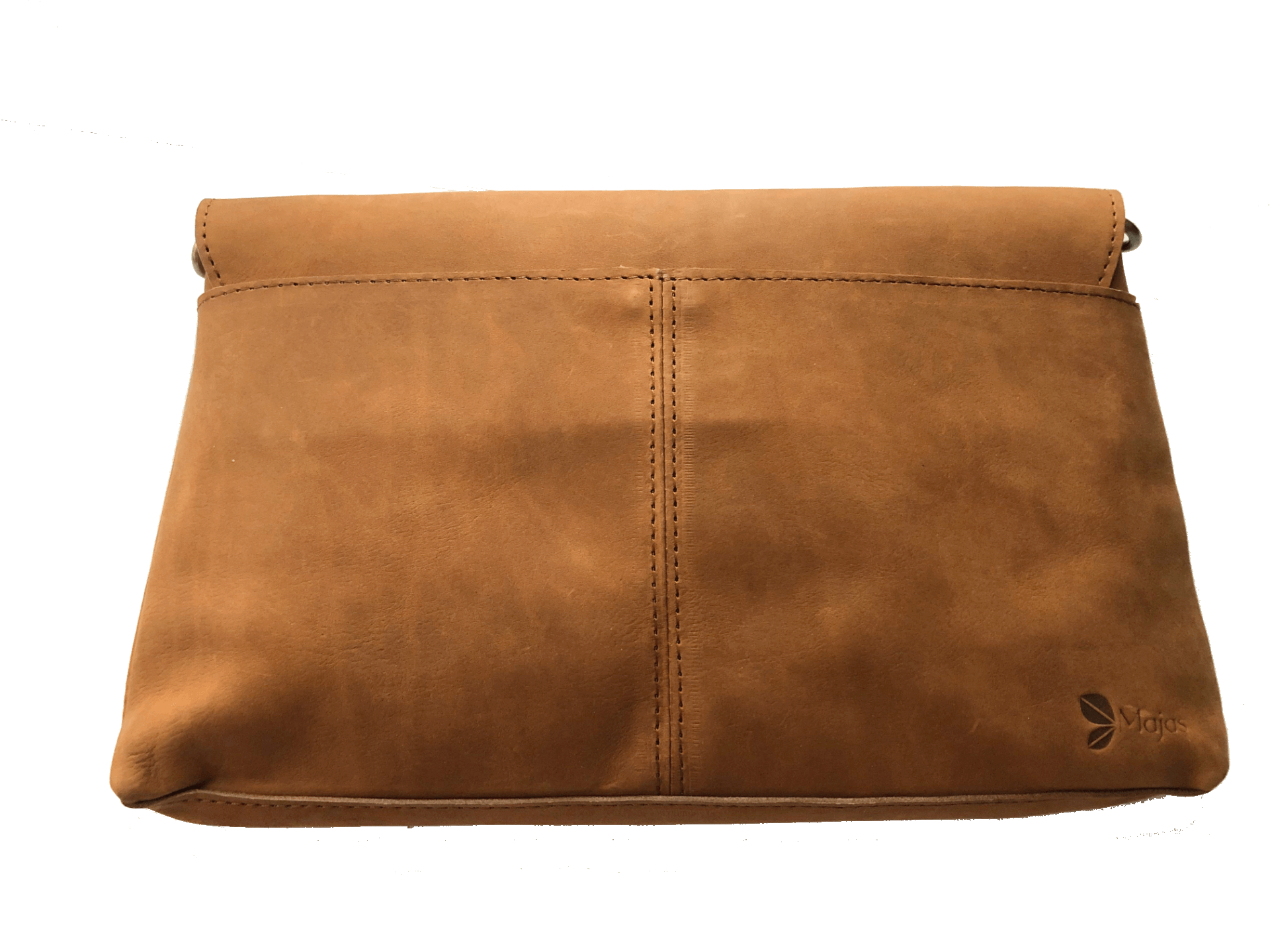 Madrid Tan Leather Envelope Pouch with Strap back side