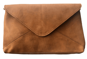 Madrid tan leather envelope pouch