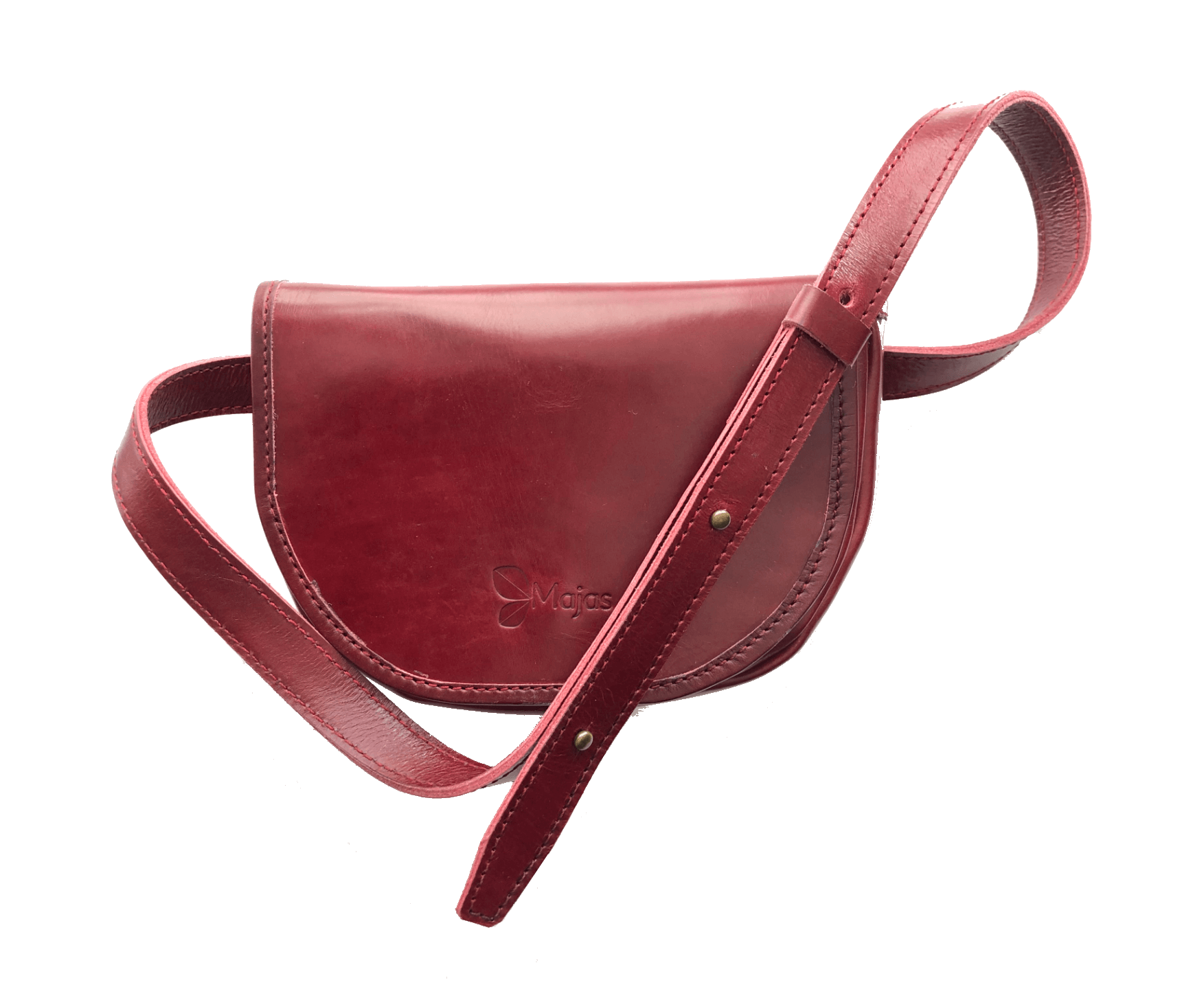Montreal Maroon Belt Bag and Cross Body Bag with strap