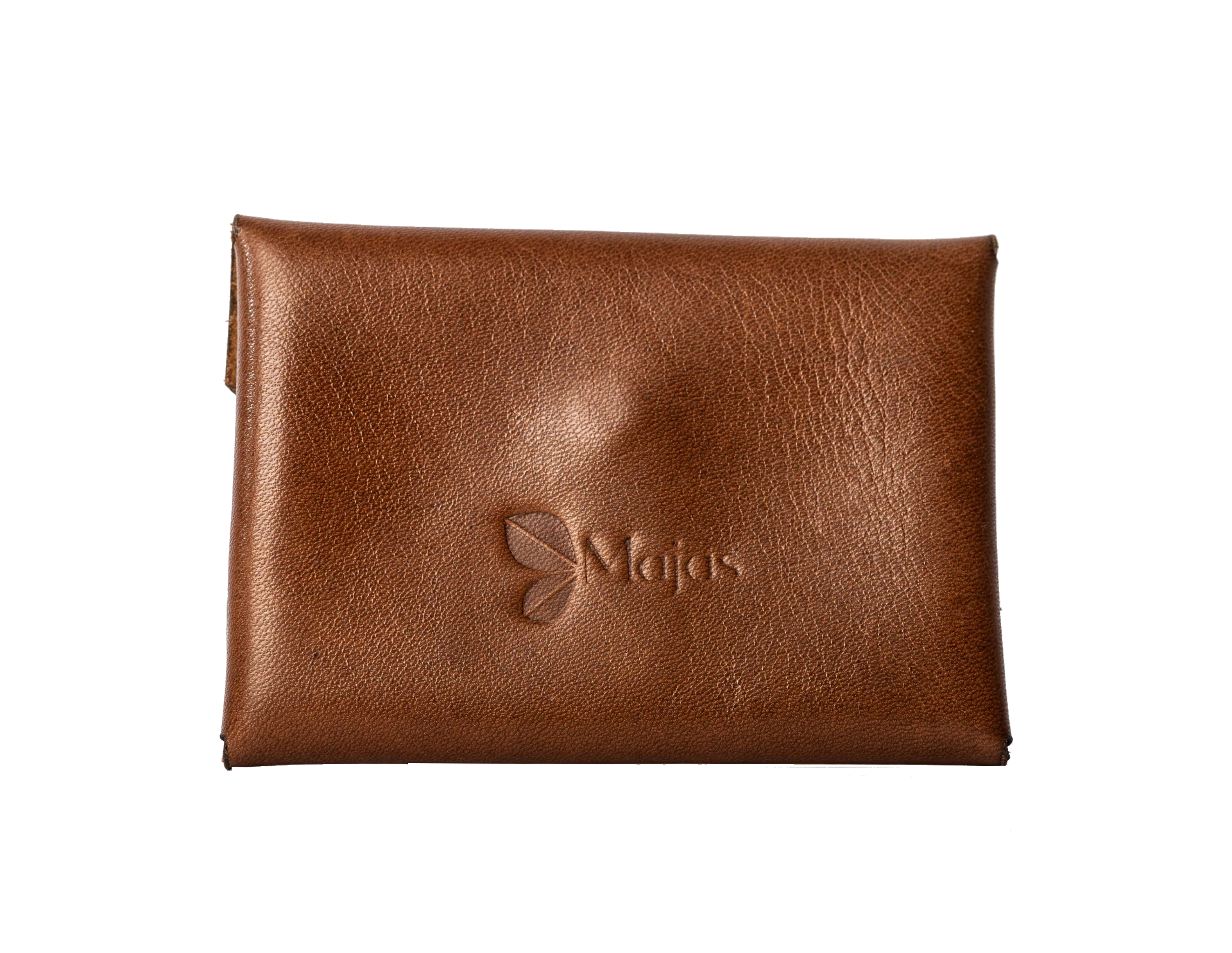 tokyo leather pin card wallet cognac