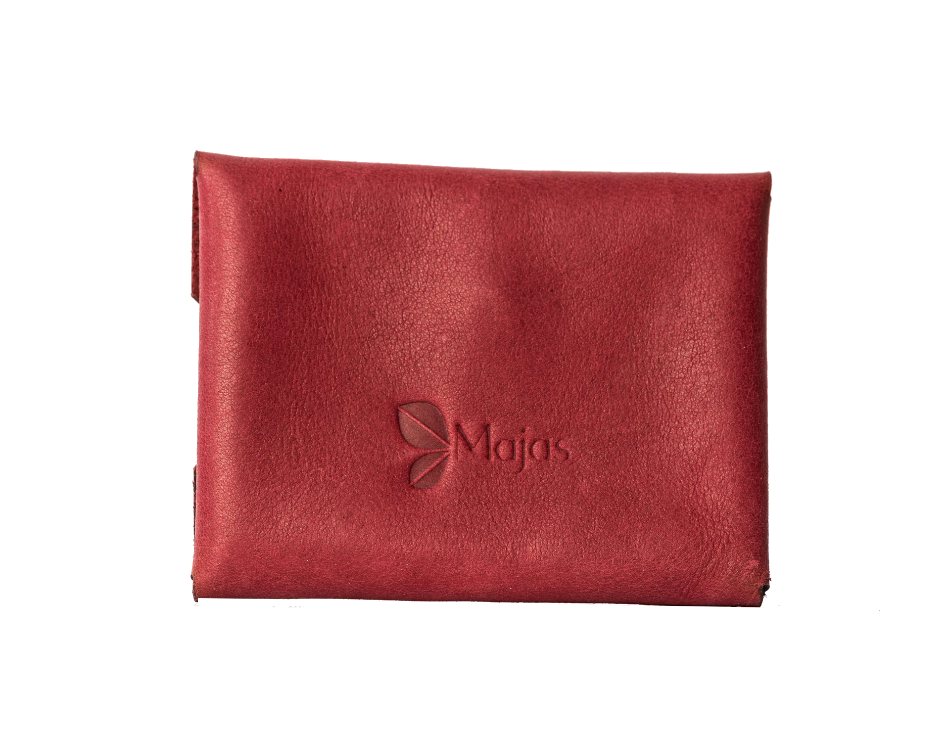 tokyo leather pin card wallet maroon