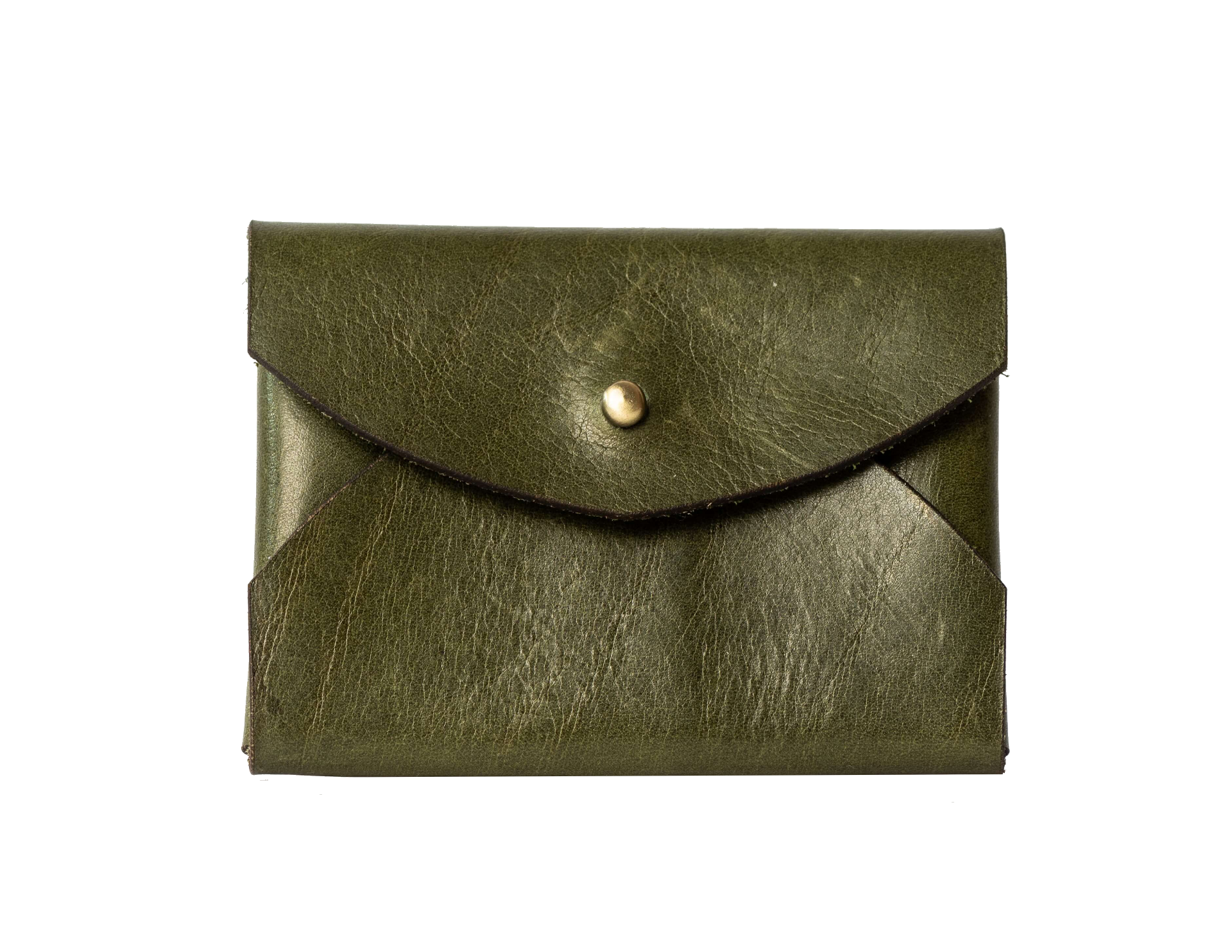 tokyo leather pin card wallet olive