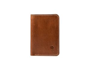 hamilton cognac mini leather wallet