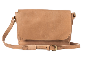 siena ivory leather cross body bag