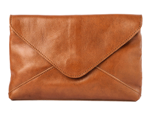 Madrid 2-in-1 Envelope Pouch & Cross Body Bag - Cognac