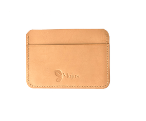 rome card wallet vegetable tanned leather