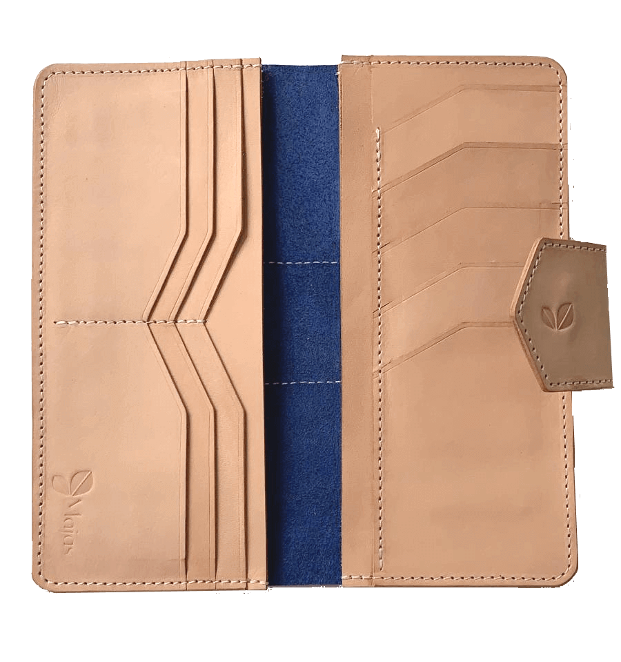 fes navy women leather wallet